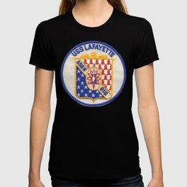 USS LAFAYETTE (SSBN-616) PATCH T-shirt