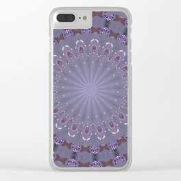 PURPLE BUTTERFLIES AND BEADS 2 Clear iPhone Case