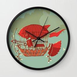 Airship Fantasy Wall Clock