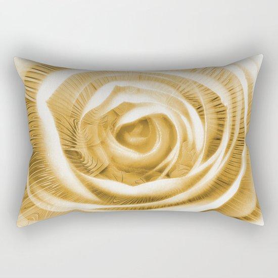 Rose & Fractal Rectangular Pillow