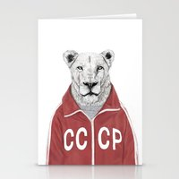 soviet Stationery Cards featuring Soviet lion by Balazs Solti