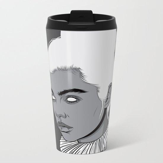 Gray lady Metal Travel Mug