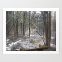 Still Woods Art Print