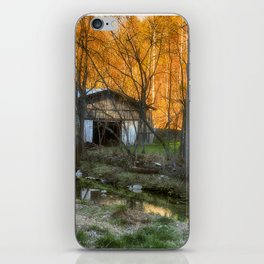 Country lane farm iPhone Skin