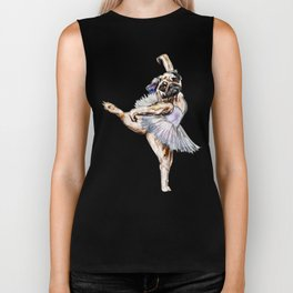 Pug Ballerina in Dog Ballet | Swan Lake  Biker Tank