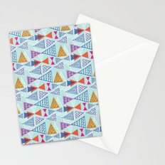 Geometric Mid Century Modern Triangles 2 Stationery Cards