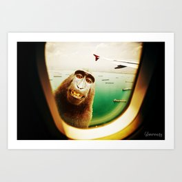 Monkey Surprise! Art Print