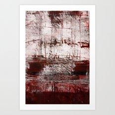 Marsala Red Art Print