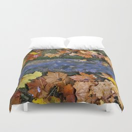 Alhambra Palace forest in autumn Duvet Cover