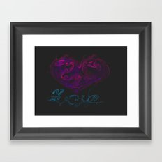 Liquid love of the passoinate ones Framed Art Print