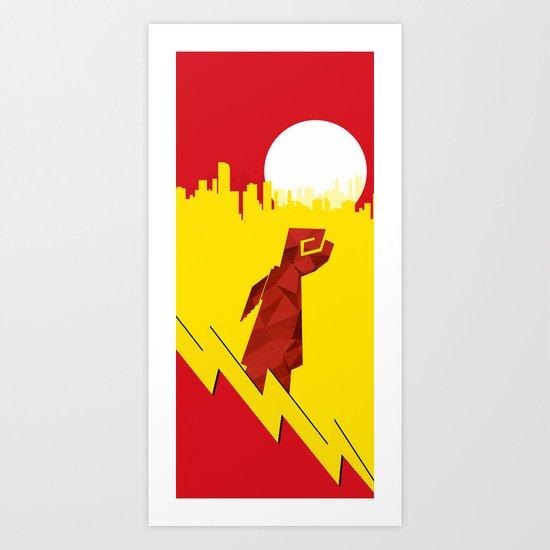 Polygon Heroes Rise 4 Art Print