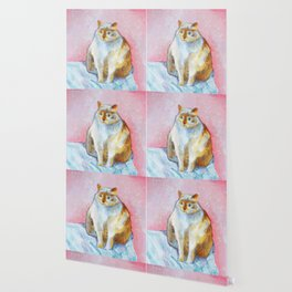Polite Chunky Cat Wallpaper