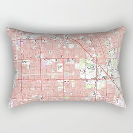 Vintage Anaheim & Garden Grove CA Map (1965) 2 Rectangular Pillow