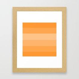 Soft Orange Peachy Hues Framed Art Print