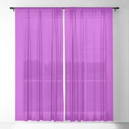 Electric Violet Sheer Curtain