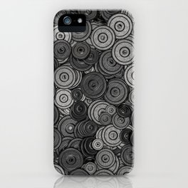 Heavy iron / 3D render of hundreds of heavy weight plates iPhone Case