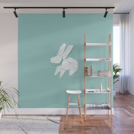 geometric rabbit Wall Mural