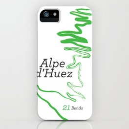 Famous Climbs: Alpe d'Huez 1, Modern iPhone Case