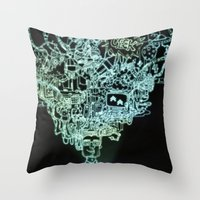 geek Throw Pillows featuring GEEK by taniavisual