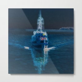 Ghostship with shipping ghosts  Metal Print