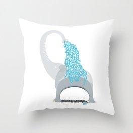 Typo The Elephant Throw Pillow