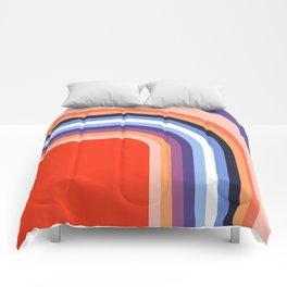 70s Stripes Rainbow 2 Comforters