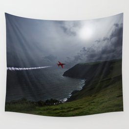 Red Arrows Air Display Wall Tapestry