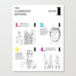 The Illuminated Mixtapes, Edition 1 Canvas Print