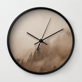 FOG IN THE MORNING Wall Clock
