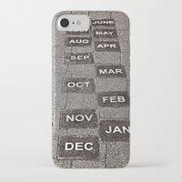 calendar iPhone & iPod Cases featuring Calendar Walk by Ethna Gillespie