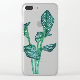 green calla lily Clear iPhone Case