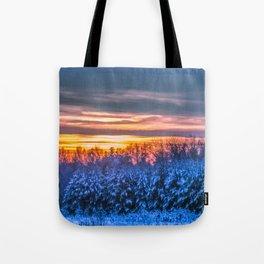 Magic winter sunset Tote Bag