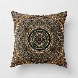 Fractal Kaleido Study 001 in CMR Throw Pillow