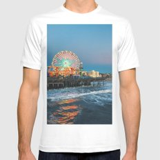 Wheel of Fortune - Santa Monica White MEDIUM Mens Fitted Tee