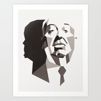 hitchcock Art Prints featuring Hitchcock by Liam Brazier