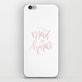 Pink Maid of Honour iPhone Skin