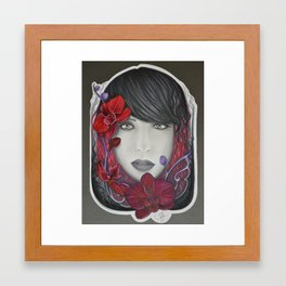 The Red in Orchids  Framed Art Print