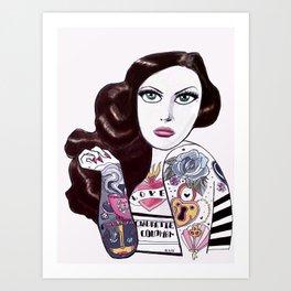 Tattooed Tallulah Art Print