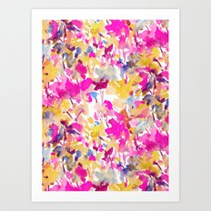 Local Color Yellow Pink Art Print
