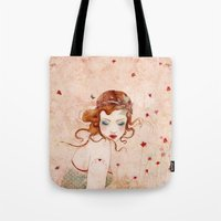 lolita Tote Bags featuring Lolita by Minasmoke