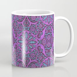 Poppy Pods Fuchsia and Turquoise Coffee Mug