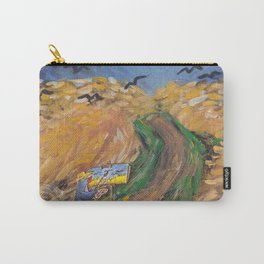Penguin Van Gogh painting crows in golden field Carry-All Pouch