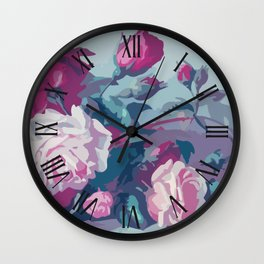 Elegant Classic Floral Artwork Wall Clock