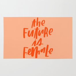 The Future is Female Pink and Orange Rug