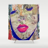 rihanna Shower Curtains featuring Rihanna by Katy Hirschfeld