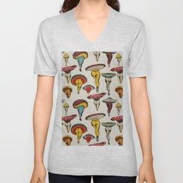 Sexy mushrooms pattern Unisex V-Neck