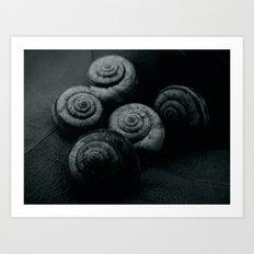 Little snails Art Print