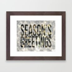 Season's Greetings Framed Art Print