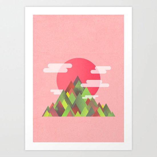 Cloudy Peaks Art Print