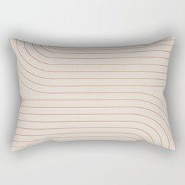 Minimal Line Curvature - Natural Rectangular Pillow